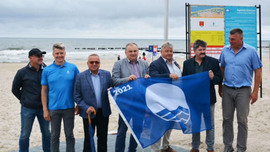 Błękitna Flaga zawieszona!